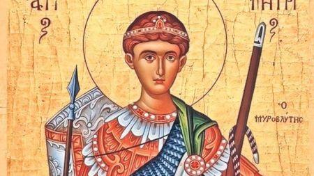 Astăzi îl sărbătorim pe Sfântul Dumitru! Ce este strict interzis să faci în această zi sfântă! Este cruce roșie!