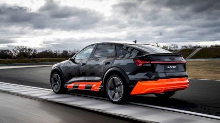Audi susține că noul e-Tron Sva fi primul model electric deserie din lume cu 3 motoare